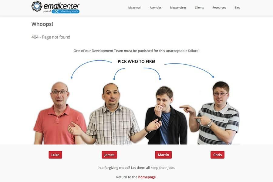 EmailCenter error 404