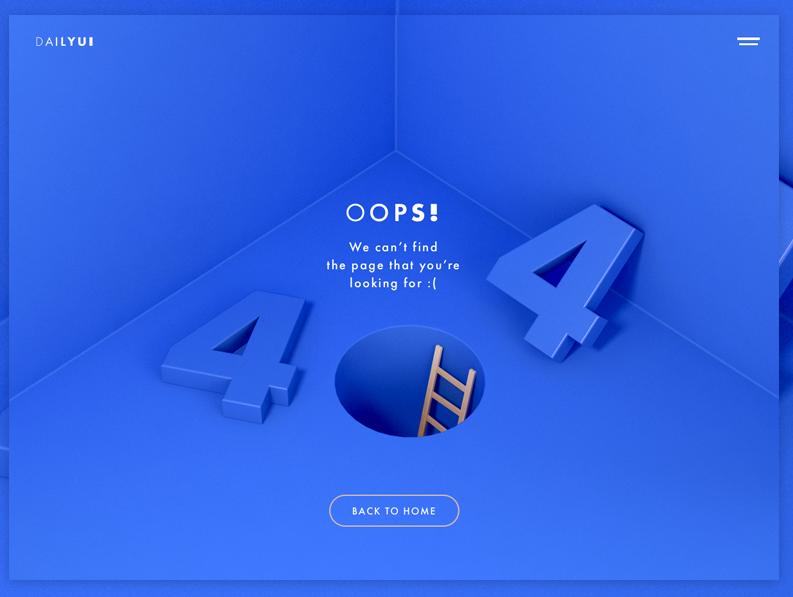 Dailyui nie znaleziono strony 404