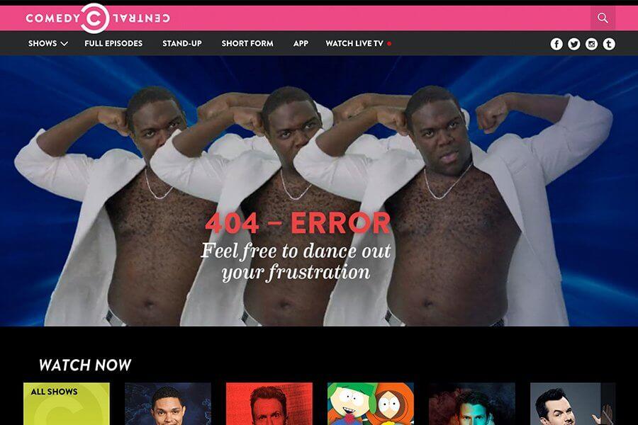 Comedy Central 404 error