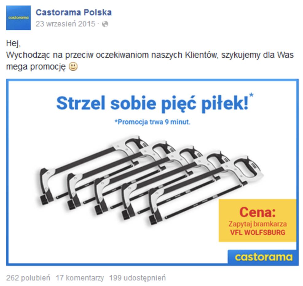 Castorama w sprawie goli Roberta Lewandowskiego. Real Time Marketing