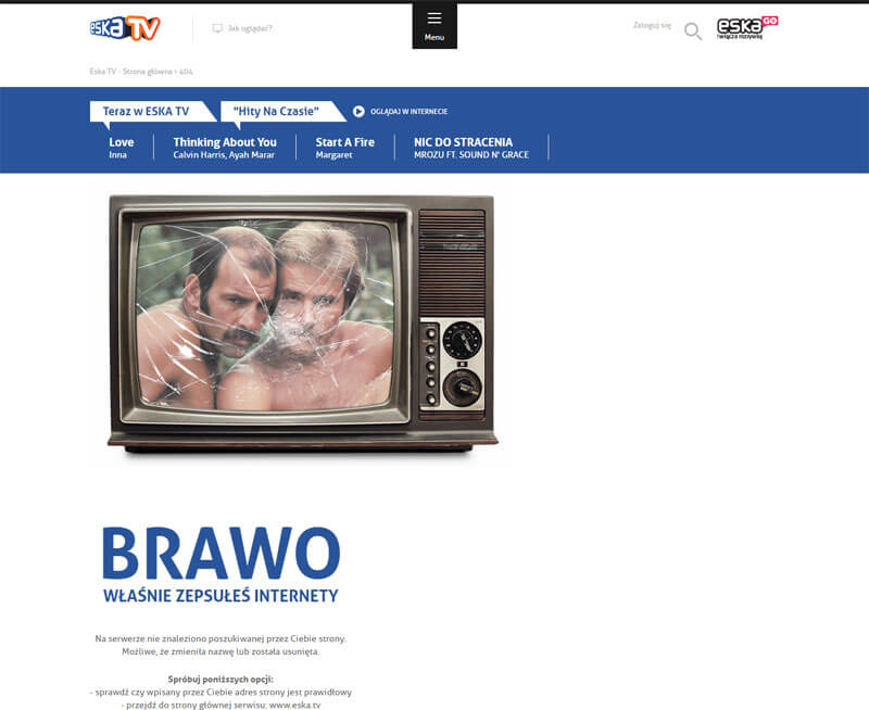 eska TV błąd 404