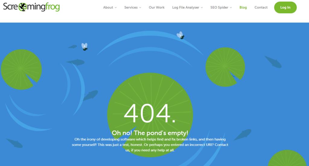 Screaming Frog błąd 404