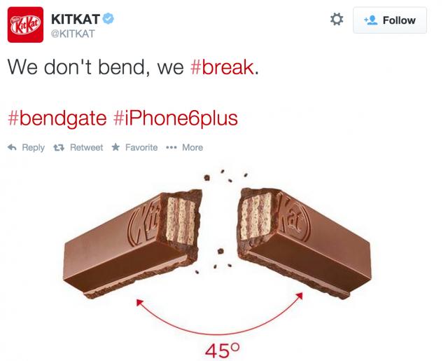 KitKat - zginający się iPhone. Marketing w czasie rzeczywistym.