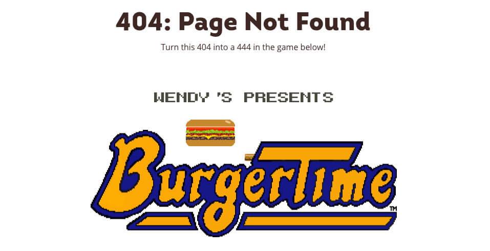 Wendy's błąd 404